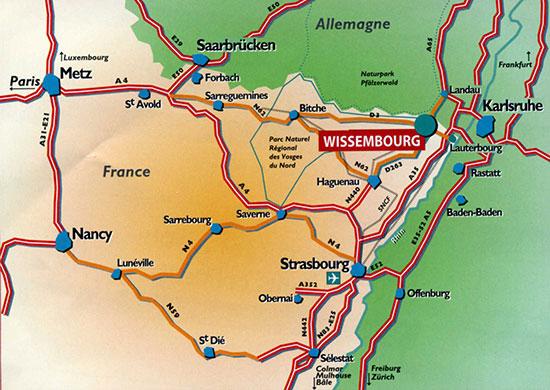 Plan Carte De Ville Strasbourg